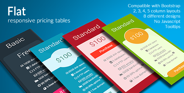 Download Flat - Responsive Pricing Tables nulled download