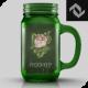 Small Beverage Glass Jar Mug Cup Mockup
