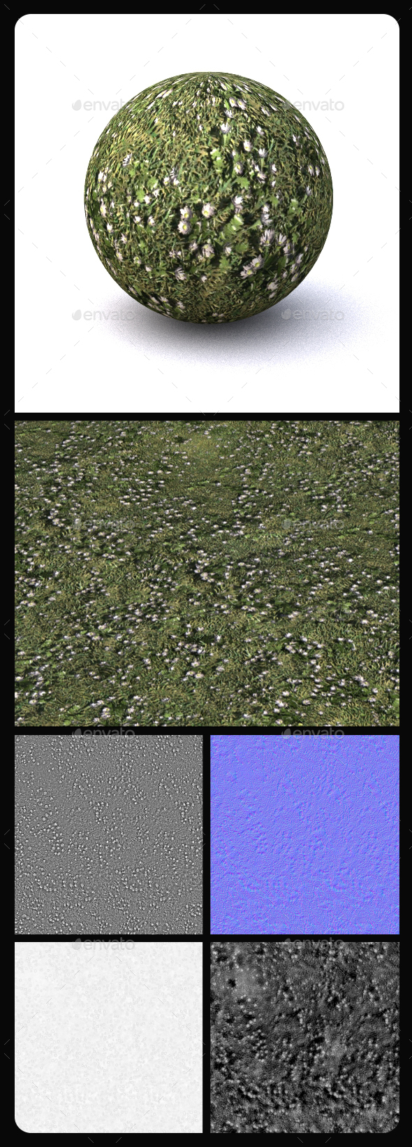 Grass Tile Texture 2 - 3DOcean Item for Sale