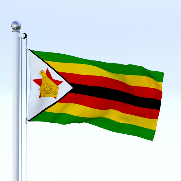 Animated Zimbabwe Flag - 3DOcean Item for Sale