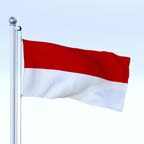 Animated Indonesia Flag - 3DOcean Item for Sale