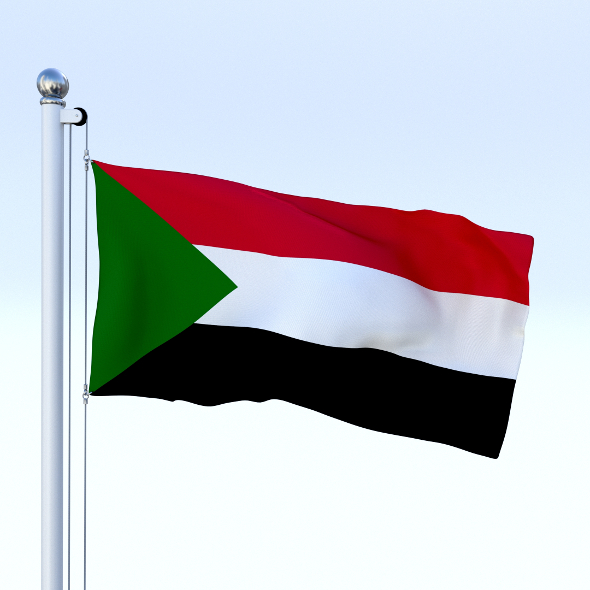 Animated Sudan Flag - 3DOcean Item for Sale