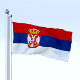 Animated Serbia Flag