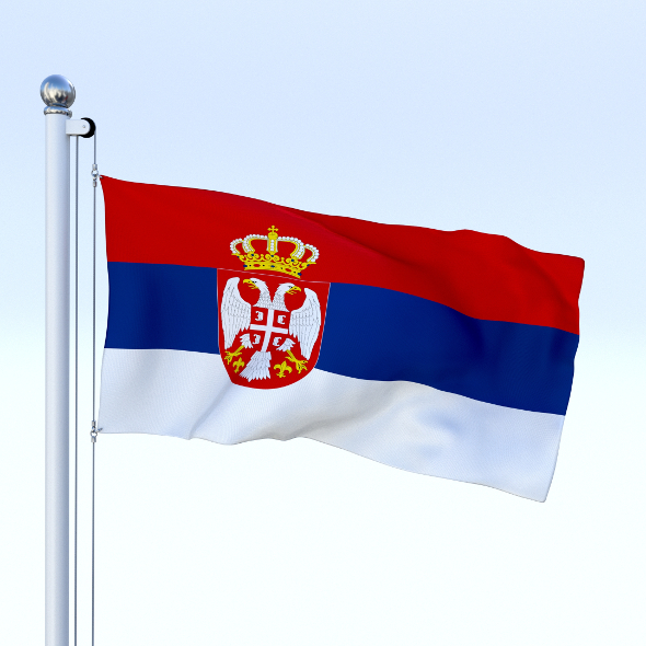 Animated Serbia Flag - 3DOcean Item for Sale