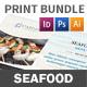 Seafood Restaurant Menu Print Bundle 2