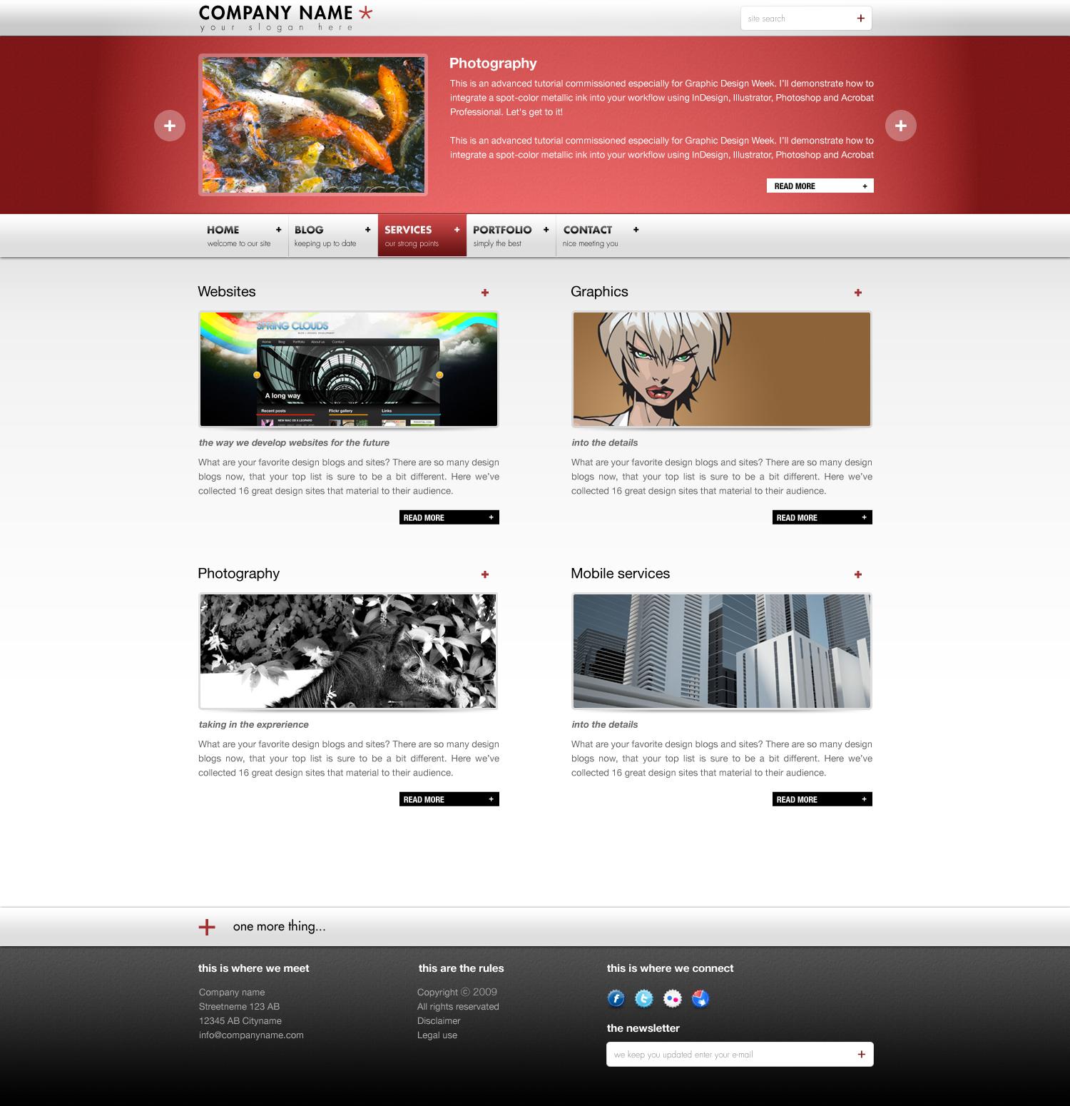 CREATIVO BLOG/PORTFOLIO (HTML/CSS)