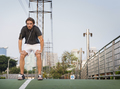 Stretching Athletic Sport Worming Healthy Concept