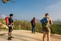 Friends Explore Nature Outdoors Concept