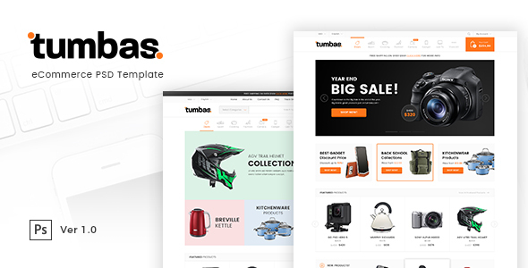 Tumbas - eCommerce PSD Template