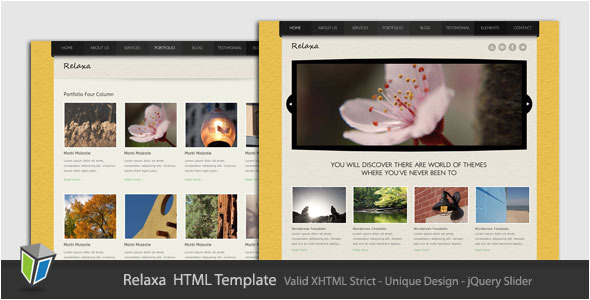 Relaxa - Unique and Modern HTML Template