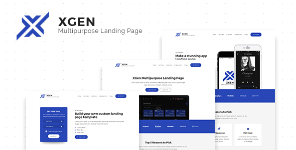 XGen - Multipurpose Landing Page PSD Template