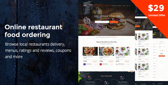 Download Food Delivery Restaurant Directory WordPress Theme - FoodPicky nulled download