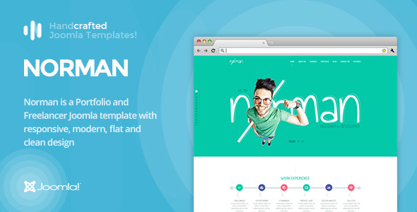 IT Norman - CV, Portfolio and Freelancer Joomla Template Gantry 5