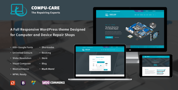 Фото Template Wordpress  Compu-Care Computer & Mobile Repair Shop | WordPress Theme — preview.  large preview