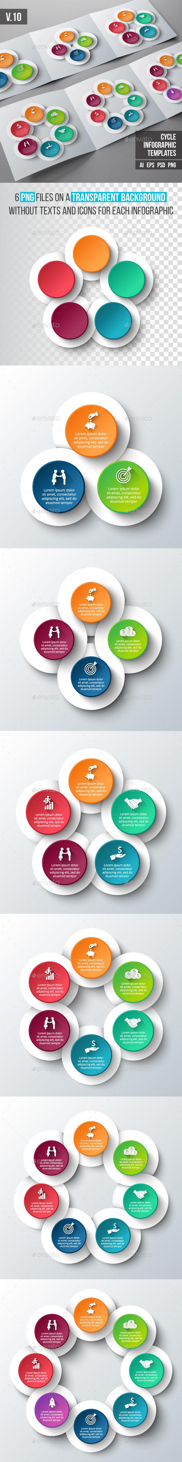 Infographics template set v.10