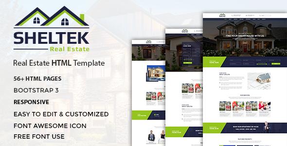 Sheltek - Real Estate Responsive Template