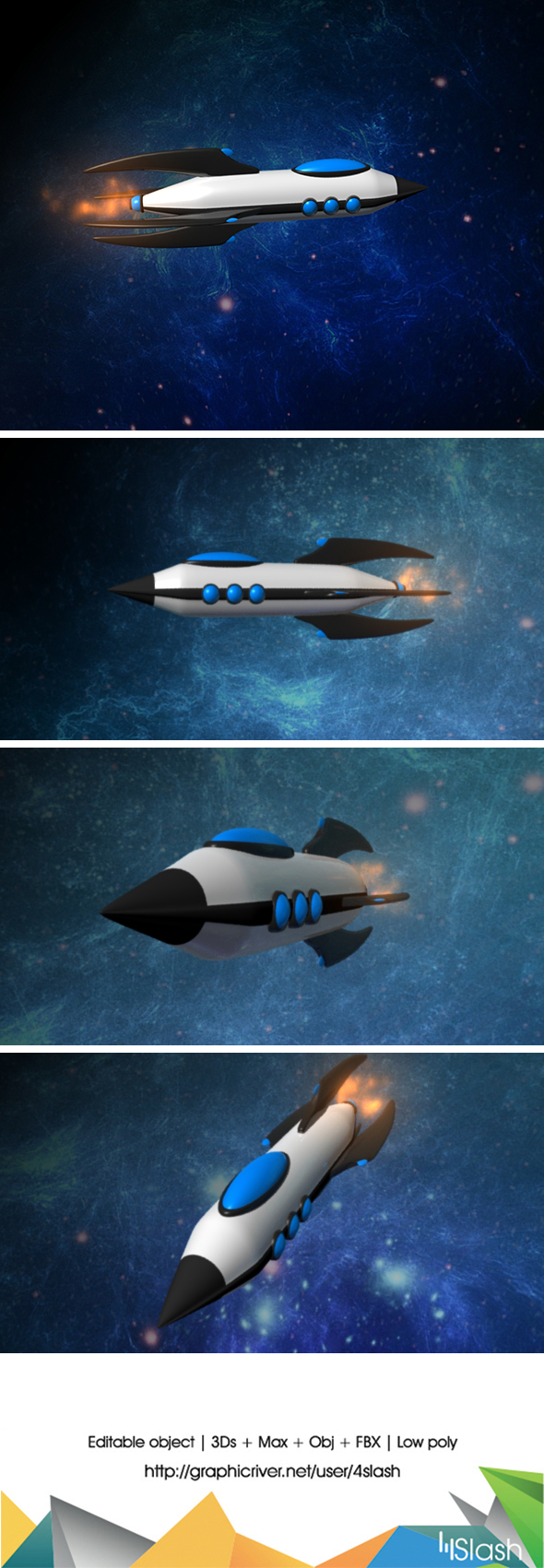 3d Space Ship - 3DOcean Item for Sale