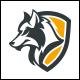 Wolf Shield Logo Template