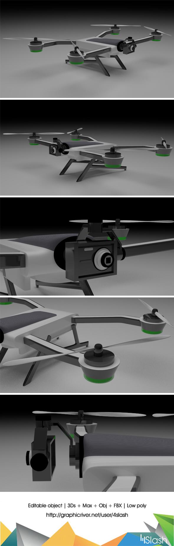 3d Karma Drone - 3DOcean Item for Sale