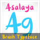 Asalaya Fancy Brush Typeface