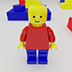 3d Lego Character