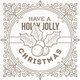 Christmas Flourishes Frame
