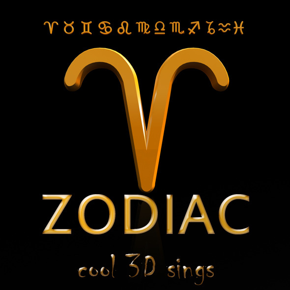 All Zodiac Signs Models - 3DOcean Item for Sale