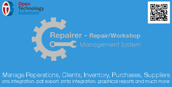 Download Repairer - Repair/Workshop Management System nulled download