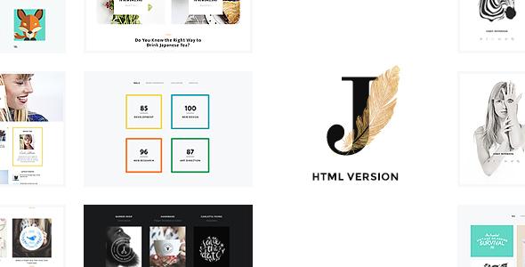 Cindy J   Creative Portfolio / Blog / CV HTML Theme