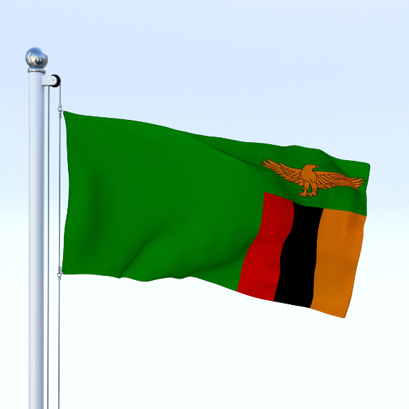 Animated Zambia Flag - 3DOcean Item for Sale