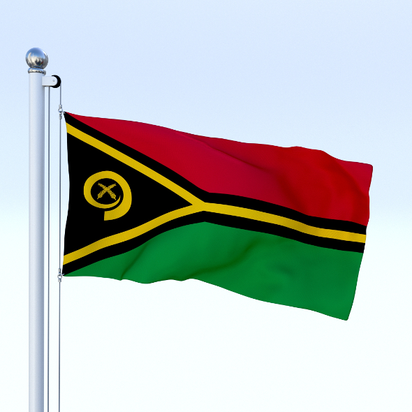 Animated Vanuatu Flag - 3DOcean Item for Sale