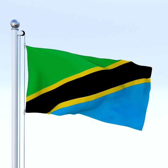 Animated Tanzania Flag - 3DOcean Item for Sale