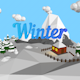 "Low poly ""Winter island"""