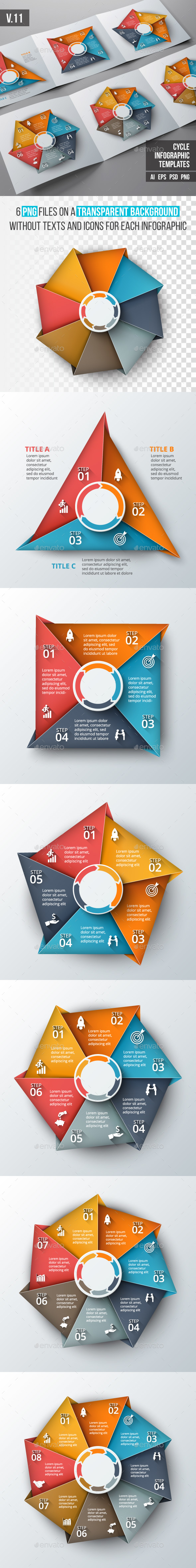 Infographics template set v.11