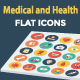 25 Medical & Health Flat Icons