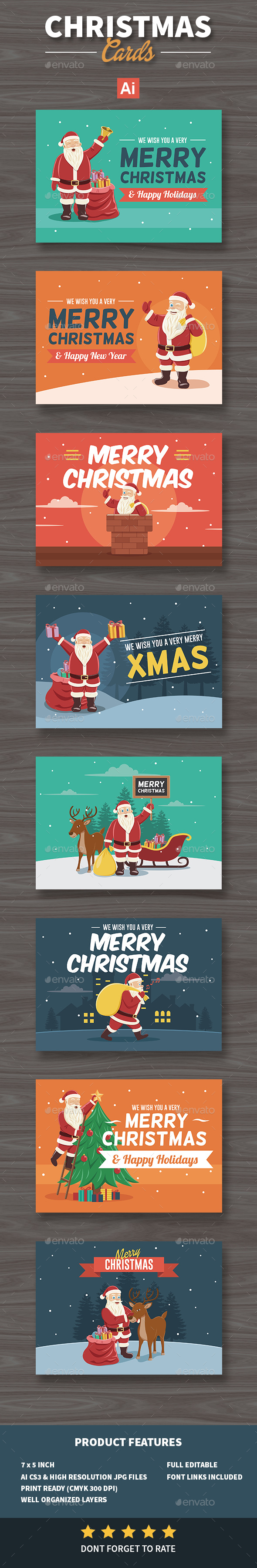 Set of Christmas Cards / Background