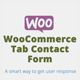 Woocommerce Product Tab Contact form