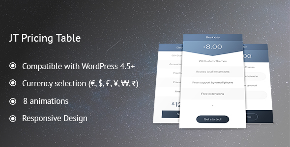 Download JT Pricing Table nulled download