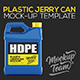 Plastic Jerry Can Mock up Template