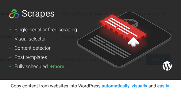 Scrapes - Web scraper plugin for WordPress