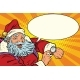 Santa Claus Shows on the Clock, New Year