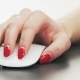 Woman Using Computer Mouse