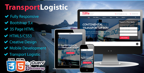 Theme Logistic Business - Transport & Trucking Logistics