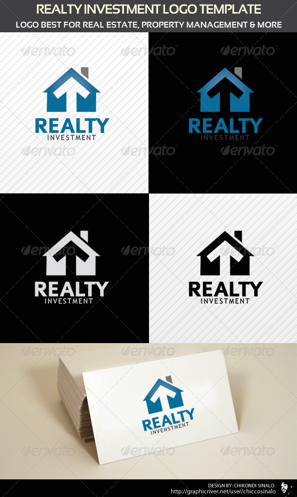 Realty Investment Logo Template - Buildings Logo Templates
