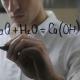 Scientist Man Writting Chemical Formulas