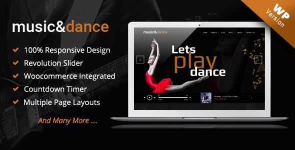Image of Music & Dance WordPress Theme