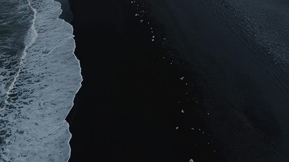 VideoHive Ice On The Black Volcano Beach 18923688