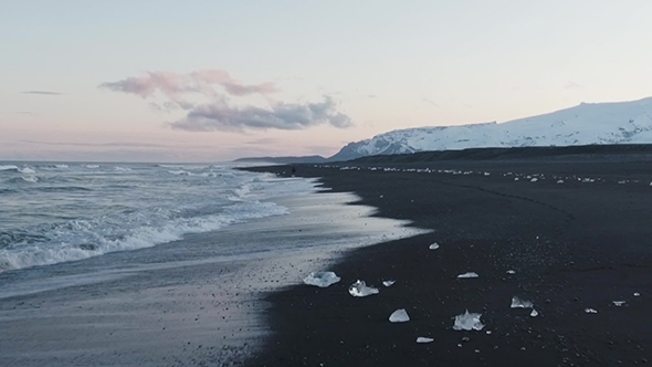 VideoHive Ice On The Beach In Iceland 18923701