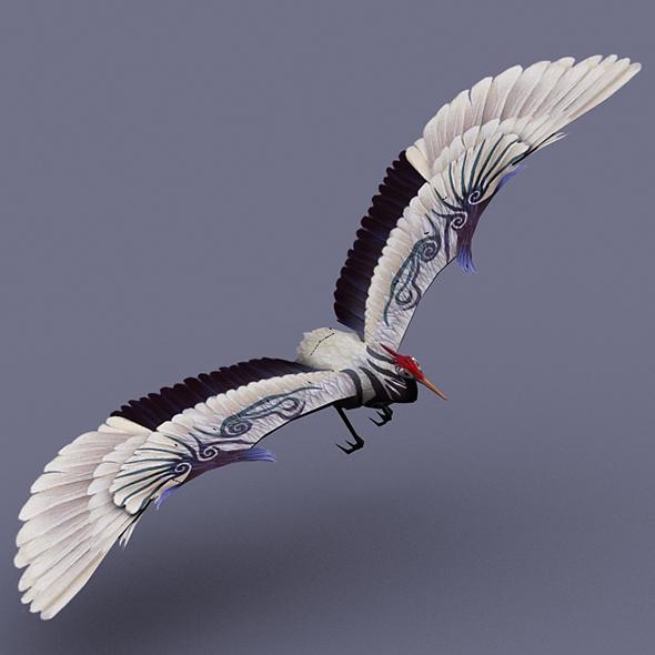 stork white - 3DOcean Item for Sale