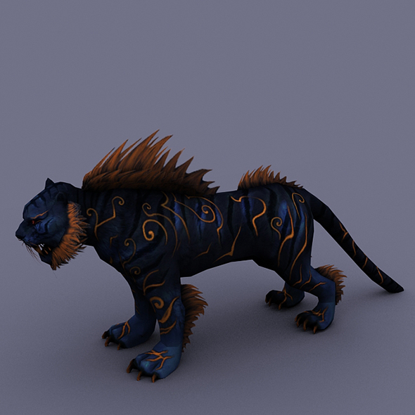 tiger dark - 3DOcean Item for Sale